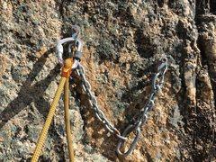 Rock Climbing Photo: Old anchor on Jungle Boy