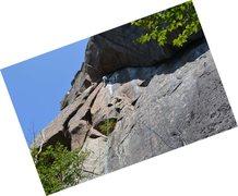 Rock Climbing Photo: Matthias eyeing the fixed anchor - lots of tat aro...