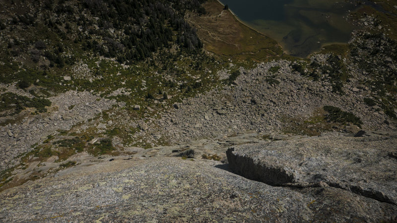 Rock Climbing Photo: P5 - this is looking down on P5 from the P6 belay....