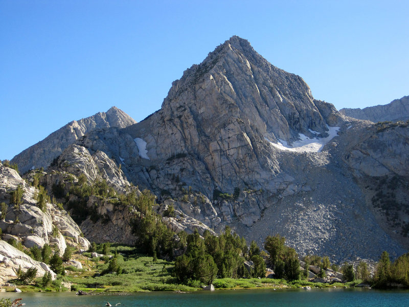 Rock Climbing Photo: Mt. Johnson as seen from Lower Treasure Lakes, is ...