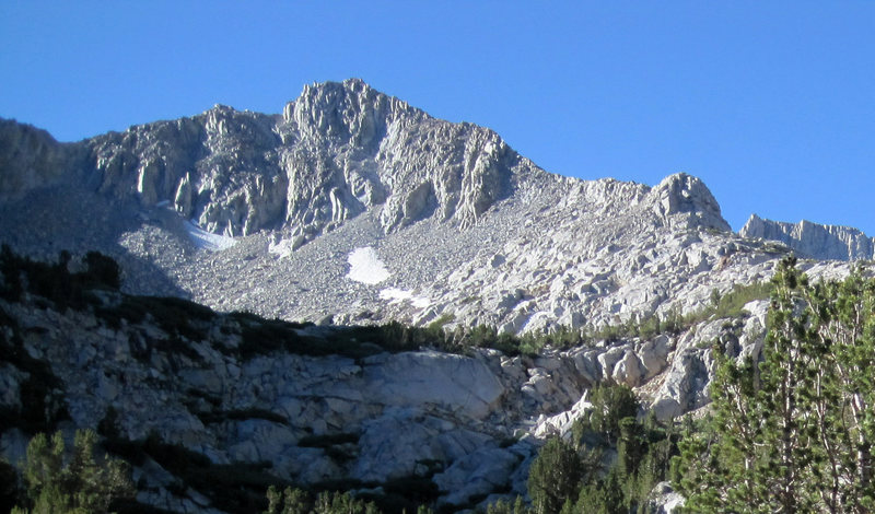 Northwest Ridge is the right skyline.