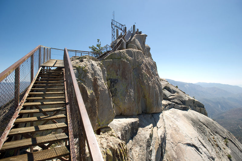Rock Climbing Photo: Currently, the stairs up to the fire lookout end a...