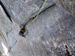 Rock Climbing Photo: My 6 1/2 year old son cruising on the 2nd pitch of...
