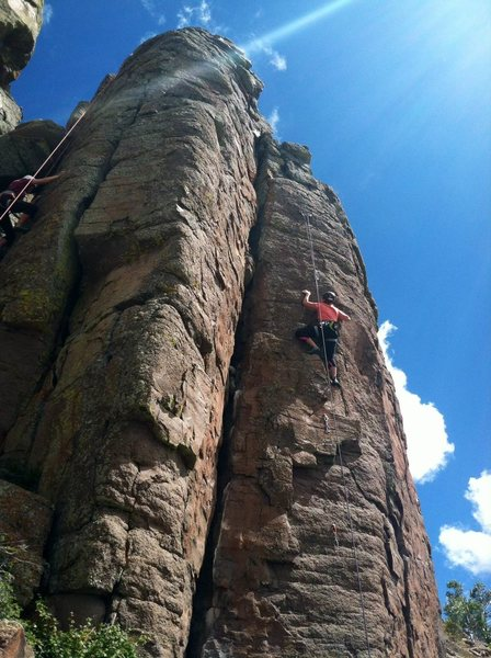 Rock Climbing Photo: Boris Ascends Again. Climber in upper left is on B...