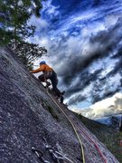 Rock Climbing Photo: Ethan on the start of P2.