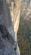 Rock Climbing Photo: Top of pitch 10.  Another party on Skull Queen bel...