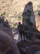 Rock Climbing Photo: Trev on descent after nailing it