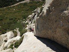 Rock Climbing Photo: Kristin coming up pitch 2.