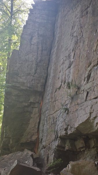 Rock Climbing Photo: close up of the block route; theres a bolted ancho...