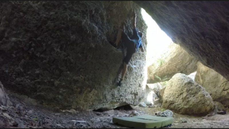 Rock Climbing Photo: It bites