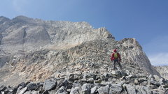 Rock Climbing Photo: From the Base of the Ridge, head up the 3rd class ...