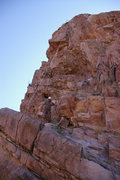 Rock Climbing Photo: Joel Adams setting up the tyroly for the 2007 Clas...