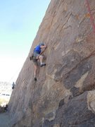 Rock Climbing Photo: Nearing the end of the crack/seam on the North Fac...