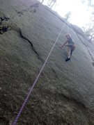 Rock Climbing Photo: Standing on nubbins is easy.  It's moving from one...