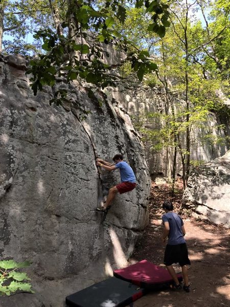 Rock Climbing Photo: Quick warm up lap