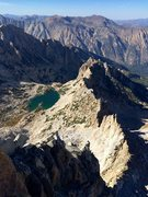 Rock Climbing Photo: Looking down the North Arete towards Glacier Lake ...