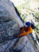 Rock Climbing Photo: Peter Pribik following P4