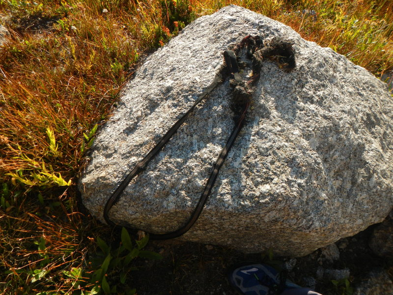 Rock Climbing Photo: Not sure if this webbing has anything to do with t...
