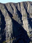 Rock Climbing Photo: Armadillo (Left) and rib to summit ridge, the Flat...