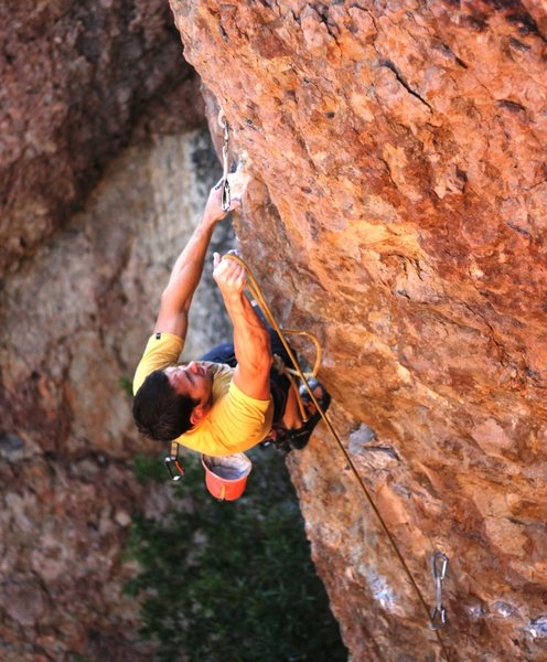 Rock Climbing Photo: making the last clip, sick route! I would definite...