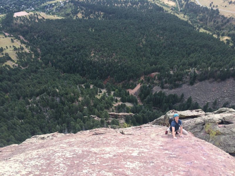 Soloing the 3rd Flatiron, followed Rob's lead.