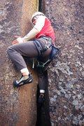 Rock Climbing Photo: JP on Rodeo Crack