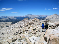 Rock Climbing Photo: Sara and Bryn with the expansive view. North Ridge...