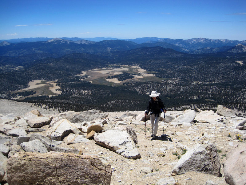 More expansive view near the top of the North Ridge, gives a good example of the terrain.