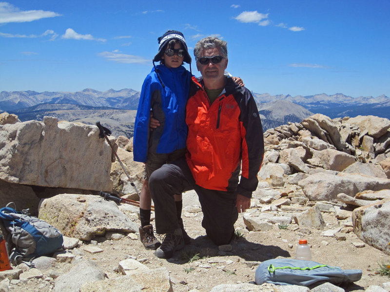 Rock Climbing Photo: Bryn and Dad on the summit of Cirque Peak.