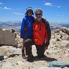 Bryn and Dad on the summit of Cirque Peak.