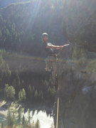 Rock Climbing Photo: My partner Mike leading Canary at Leavenworth