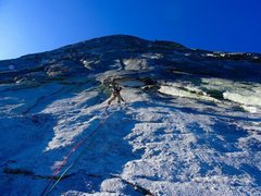 Rock Climbing Photo: Heading up first pitch