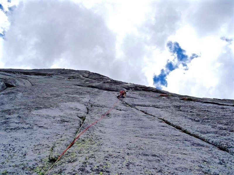 Rock Climbing Photo: The crux pitch 3