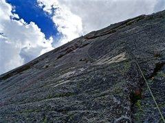 Rock Climbing Photo: The transition pitch 5