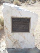 Rock Climbing Photo: Gunga Din Historical Marker.