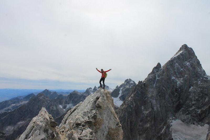 On the summit of teewinot