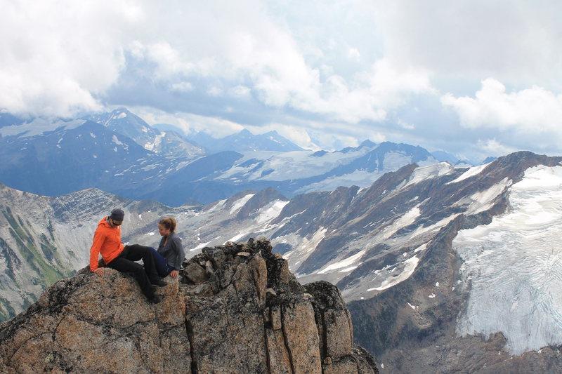 Rock Climbing Photo: Relaxing at the top!