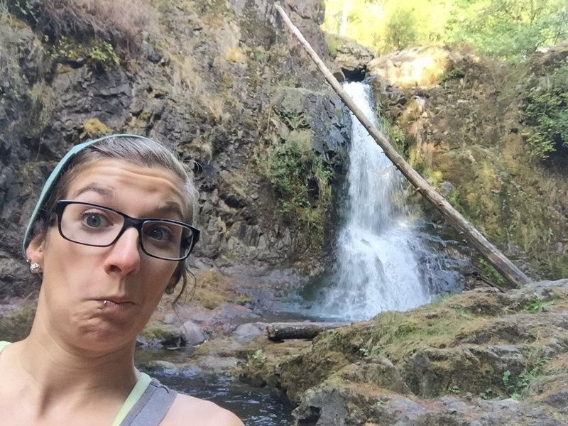 My lost glasses at a waterfall