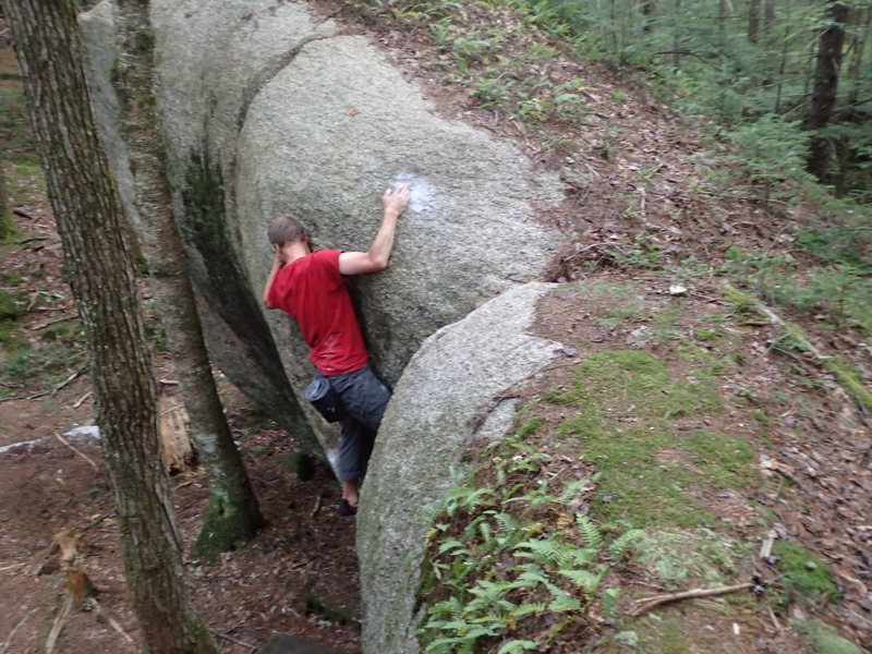 Cool But Contrived (V2), After Work Boulders Waterville, NH
