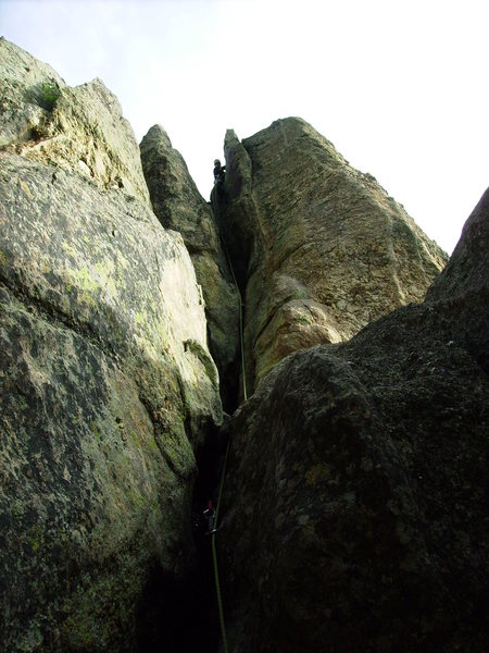 Rock Climbing Photo: View from the start of the climb.