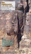Rock Climbing Photo: Route Overlay, The Nightcrawler