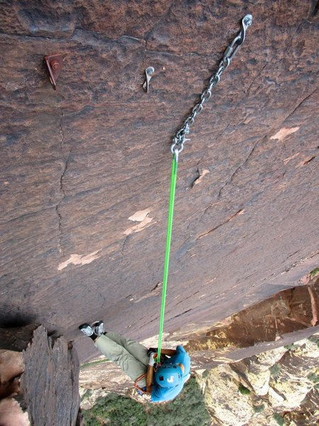 Pitch 4 bolted anchor (Sept 2015).