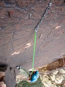 Rock Climbing Photo: Pitch 4 bolted anchor (Sept 2015).