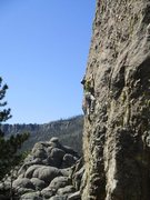 Rock Climbing Photo: Brent drinking in Happiness is Whiskey, 5.8.  The ...