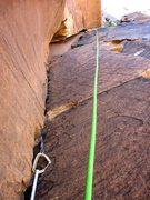Rock Climbing Photo: The second half of Pitch 2, with Rico at the belay...