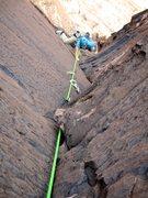 Rock Climbing Photo: Rico climbing Pitch 3. What a pitch!