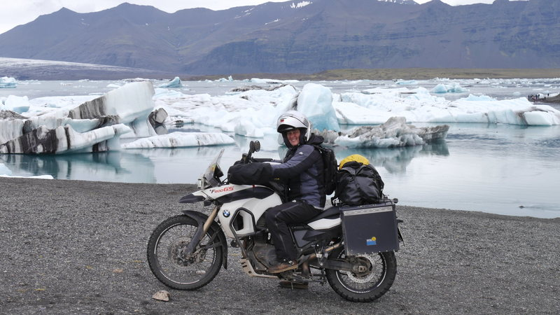 I have been all over, including Iceland, so the bike is quite loaded with no room for stuff like climbing gear!!!