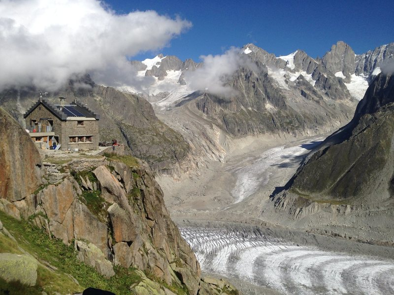 Most people elect to stay at the well-located Refuge de l'Envers des Aiguilles.