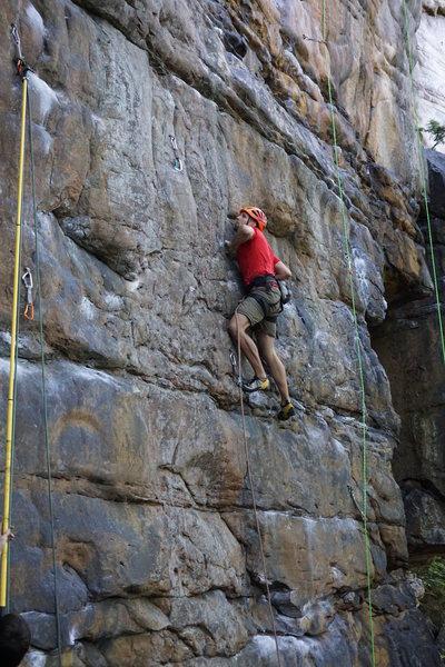 Rock Climbing Photo: crux clip