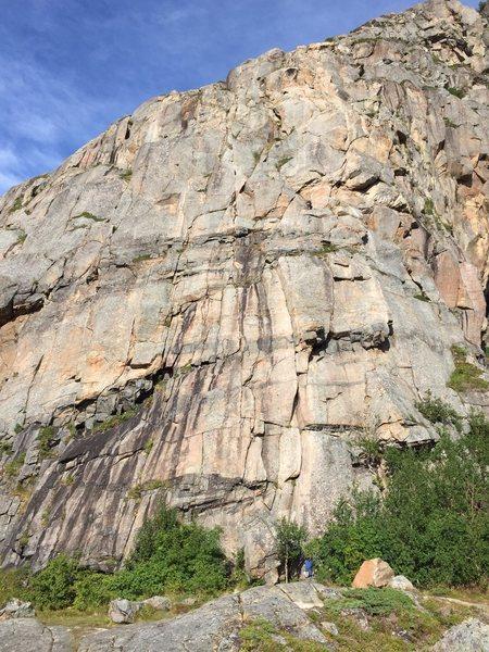 Rock Climbing Photo: Gollum follows the crack system to the left of Gan...